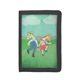 Jack Jill Unicorn Tri-fold Wallet