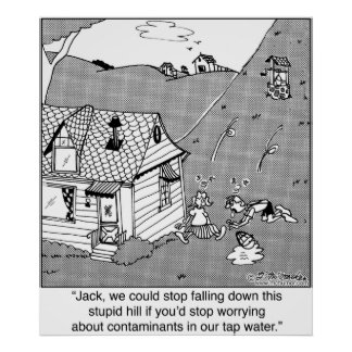 Jack & Jill Worry About Water Contaminants Poster