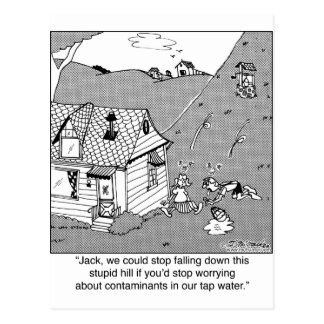 Jack & Jill Worry About Water Contanimants Postcard