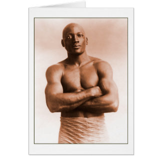 Jack Johnson American Boxer Card