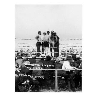 Jack Johnson contra el boxeo de Jim Flynn del Postales