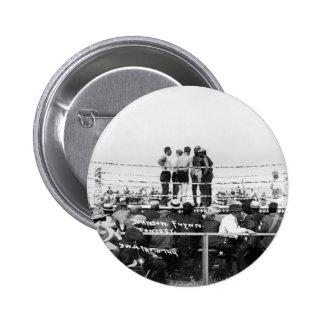 Jack Johnson vs. Fireman Jim Flynn Boxing: 1912 Pinback Button