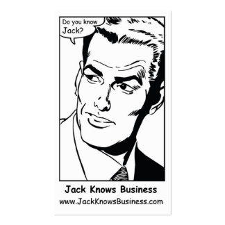 Jack Knows Business cM Double-Sided Standard Business Cards (Pack Of 100)