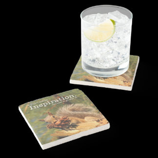 Jack London Quote Don't Wait for Inspiration Stone Coaster