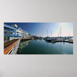 Jack London Square Marina Panorama Poster