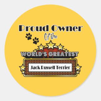 Jack más grande Russell Terrier del mundo orgullos Pegatina Redonda