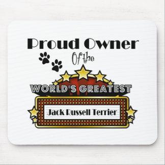 Jack más grande Russell Terrier del mundo orgullos Tapetes De Raton