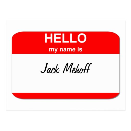 Jack Mehoff Postcard
