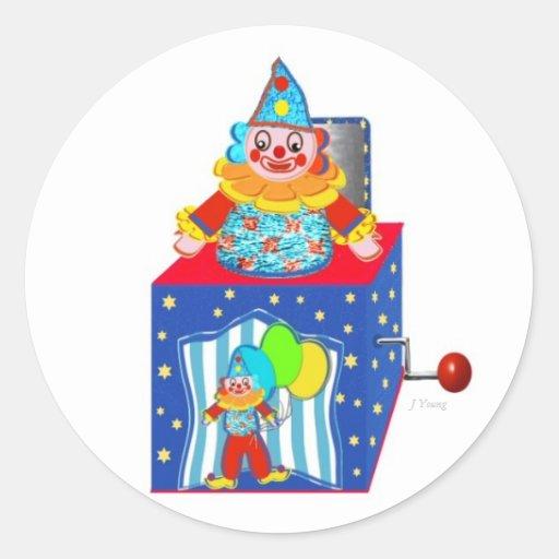 Jack N the Box Classic Round Sticker