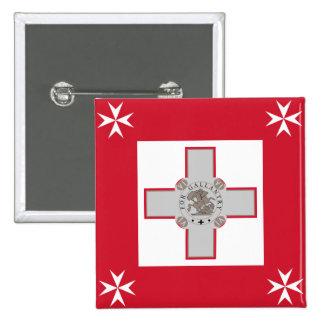 Jack naval bandera de Malta, Maldivas Pin