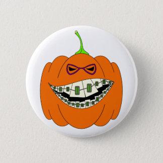 Jack-O-Braces Pinback Button