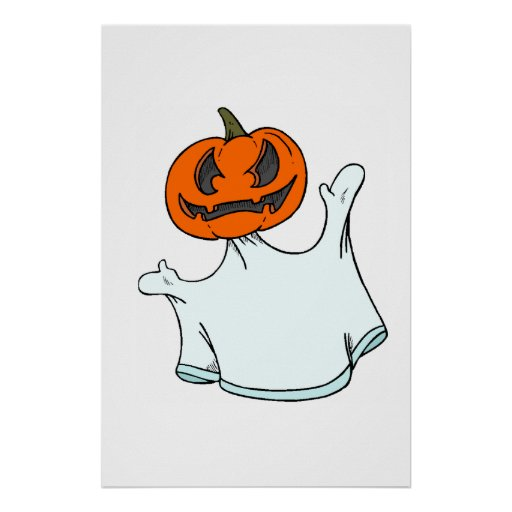 Jack-o-Ghost Poster