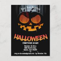 Jack O' Halloween Party Invite Postcard
