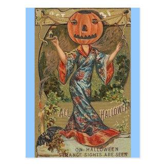 Jack-O-Lady Postcard