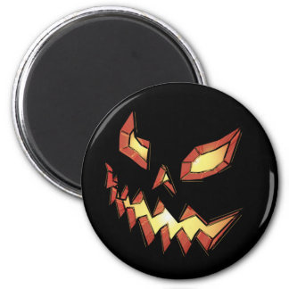 Jack O Lantern 2 Inch Round Magnet
