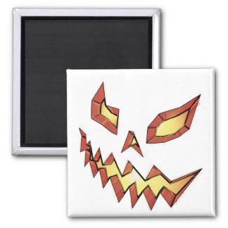 Jack O Lantern 2 Inch Square Magnet