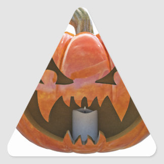 Jack O Lantern 2 Triangle Sticker