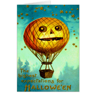 Jack O' Lantern Air Balloon Card