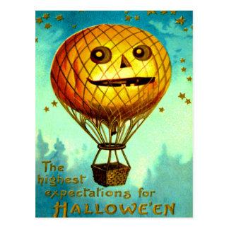 Jack O' Lantern Air Balloon Postcard