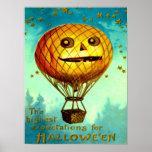 Jack O' Lantern Air Balloon Poster