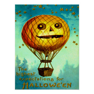 Jack O' Lantern Air Balloon Poster
