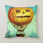 Jack O' Lantern Air Balloon Throw Pillow