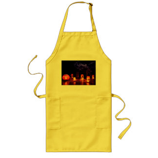 Jack-O-Lantern And Candles Apron