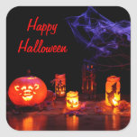 Jack-O-Lantern And Candles Stickers