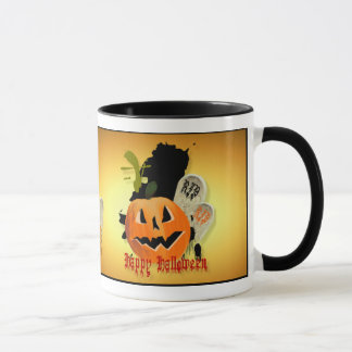 Jack-O-Lantern and Graves Mugs