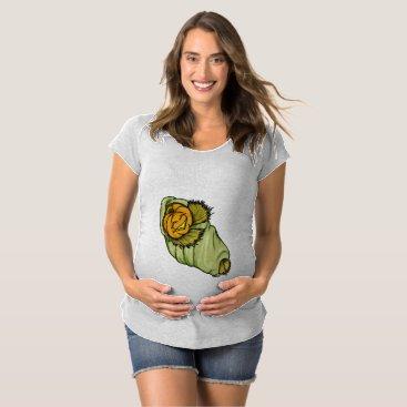 Halloween Themed Jack-O-Lantern Baby Halloween Maternity Maternity T-Shirt