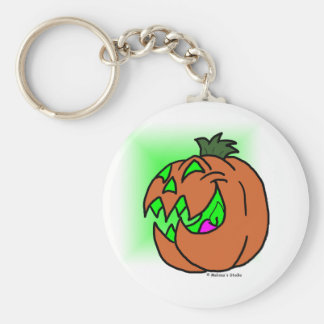 Jack-O-Lantern Basic Round Button Keychain