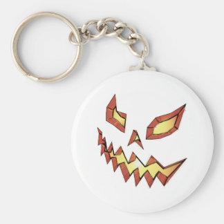 Jack O Lantern Basic Round Button Keychain