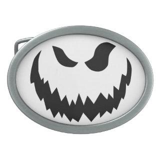 Jack-o-lantern belt buckle