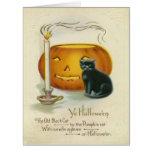 Jack O Lantern Black Cat Candle Card