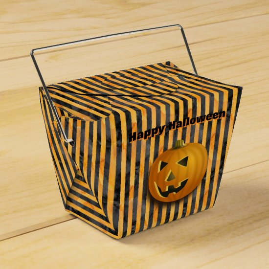Jack-O-Lantern, Black & Orange Striped Goodie Box