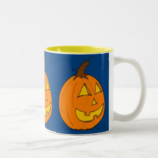 Jack o' Lantern Blue Mug
