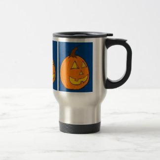 Jack o' Lantern Blue Travel Mug