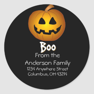 Jack O Lantern Boo Address Labels