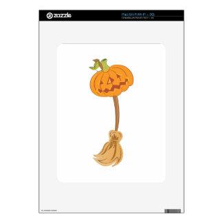 Jack-O-Lantern Broom Decals For The iPad