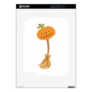 Jack-O-Lantern Broom iPad 2 Decal