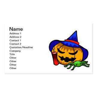 Jack O Lantern Business Card