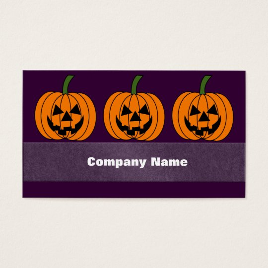 Jack O' Lantern Business Card