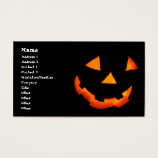 Jack-o'-Lantern business cards