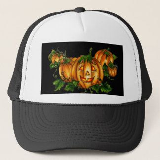 JACK-O-LANTERN by SHARON SHARPE Trucker Hat