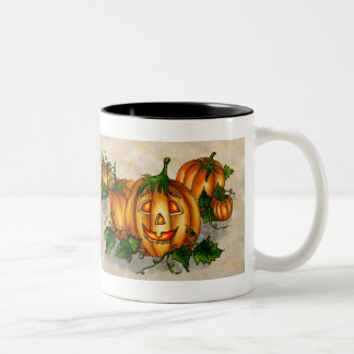 JACK-O-LANTERN by SHARON SHARPE Two-Tone Coffee Mug