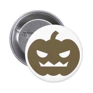 Jack O Lantern Cartoon Halloween Button