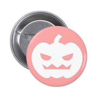 Jack O Lantern Cartoon Pink Button