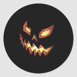 Jack O Lantern Classic Round Sticker