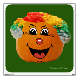 Jack o' Lantern Clown Face, Halloween Pumpkin Wall Sticker