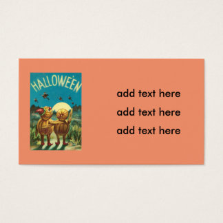 Jack O' Lantern Creature Monster Witch Business Card